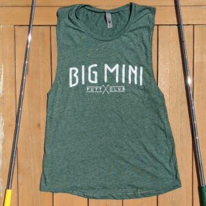 Green sleeveless women's tanktop shirt viewed from the front